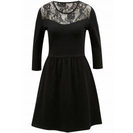 černé šaty s krajkou ONLY Neilla