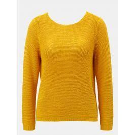 Hořčicový svetr s pásky na zádech ONLY Gabbi String