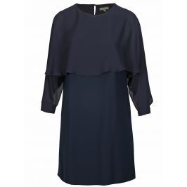 Tmavě modré šaty s volánovým rukávem Ulla Popken