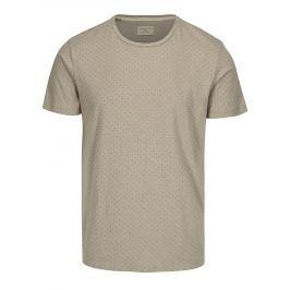 Šedé tričko s jemným vzorem Selected Homme Kris