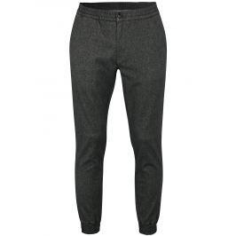 Tmavě šedé žíhané pánské kalhoty Tommy Hilfiger Active