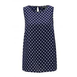 Tmavě modré puntíkované oversize tílko Dorothy Perkins Tall