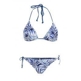 Bílo-modré dámské vzorované dvoudílné plavky Rip Curl