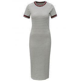 Bílé pruhované šaty ONLY Lou