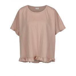 Starorůžové oversize tričko VILA Rose