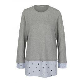 Šedý svetr s všitým košilovým lemem ONLY Acacia