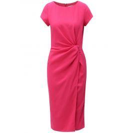Růžové šaty s řasením na boku Dorothy Perkins