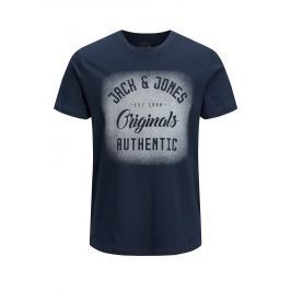 Tmavě modré tričko s potiskem Jack & Jones Reji