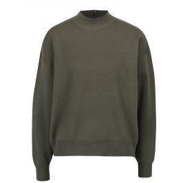 Khaki svetr se zipem na zádech Apricot