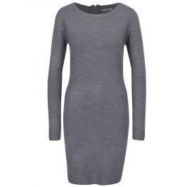 Šedé svetrové šaty s dlouhým rukávem Haily´s Naomi
