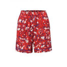 Červené květované kraťasy s vysokým pasem Noisy May