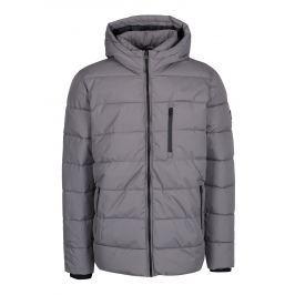 Šedá zimní prošívaná bunda Burton Menswear London