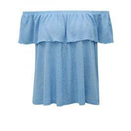 Modrá halenka s odhalenými rameny Broadway Fleta