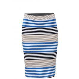 Bílo-modrá pruhovaná pouzdrová sukně Broadway Francelle