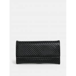 Černá lesklá peněženka s plastickým vzorem Anna Smith