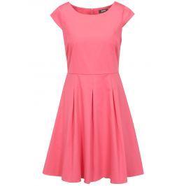Růžové šaty s áčkovou sukní ZOOT