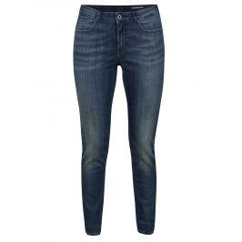 Modré skinny džíny s vyšisovaným efektem Scotch & Soda