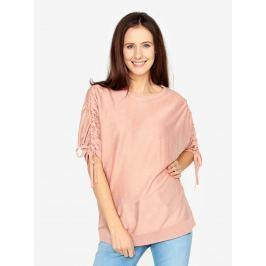 Růžový volný svetr s netopýřími rukávy VERO MODA Adriana