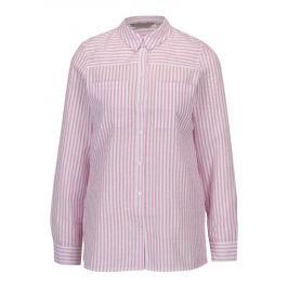 Krémovo-růžová pruhovaná košile Dorothy Perkins Petite