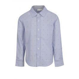 Modrá klučičí vzorovaná košile name it Mias