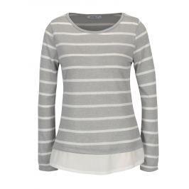 Šedý pruhovaný lehký svetr Haily´s Malon