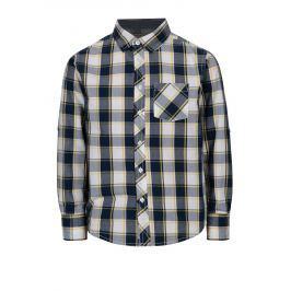 Modrá klučičí kostkovaná košile s dlouhým rukávem 5.10.15.