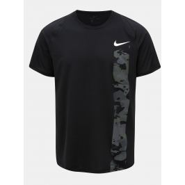 Černé pánské slim fit tričko s potiskem Nike
