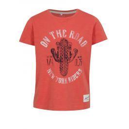 Oranžové klučičí tričko s potiskem name it Hiclas