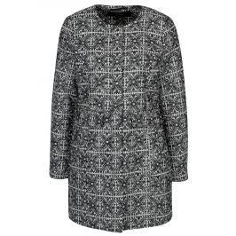 Tmavě modrý vzorovaný kabát VERO MODA Sylva
