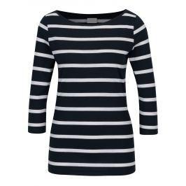 Tmavě modré pruhované tričko VILA Striped