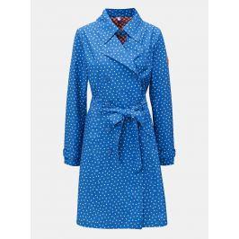 Modrý vzorovaný kabát s páskem Blutsgeschwister