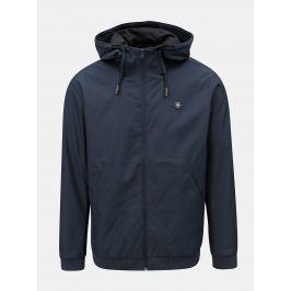 Tmavě modrá lehká nepromokavá bunda s kapucí Jack & Jones Alu