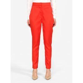 Červené kostýmové kalhoty s vysokým pasem MISSGUIDED