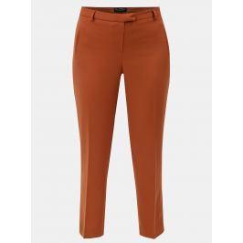 Oranžové zkrácené kalhoty s puky Miss Selfridge