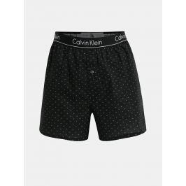 Černé slim fit trenýrky s jemným vzorem Calvin Klein