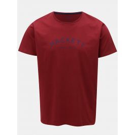 Vínové classic fit tričko Hackett London