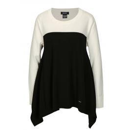 Bílo-černý asymetrický svetr DKNY