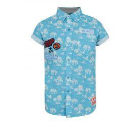 Tyrkysová klučičí vzorovaná košile Blue Seven