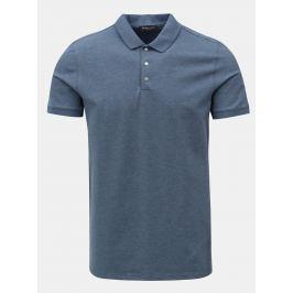 Modré žíhané polo tričko Selected Homme