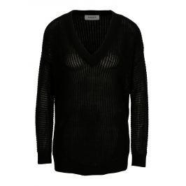 Černý průsvitný svetr VERO MODA Castiel