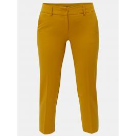 Hořčicové zkrácené kalhoty Dorothy Perkins