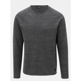 Tmavě šedý žíhaný svetr Jack & Jones Union