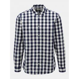 Bílo-modrá kostkovaná košile s dlouhým rukávem Jack & Jones Gingham