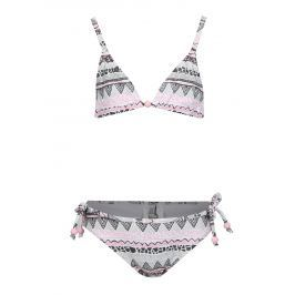 Růžovo-krémové holčičí dvoudílné plavky tuc tuc Printed