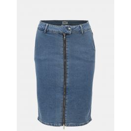 Modrá pouzdrová džínová sukně se zipem ONLY Tracii
