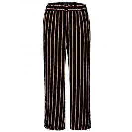 Krémovo-černé pruhované kalhoty s vysokým pasem Blendshe Nora