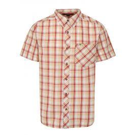 Červeno-žlutá pánská kostkovaná košile BUSHMAN Inez