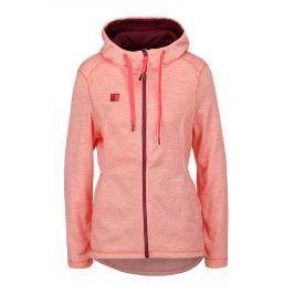 Neonově růžová dámská žíhaná mikina LOAP Gabry