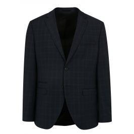 Tmavě modré oblekové sako s jemným vzorem Selected Homme Done Buffalo
