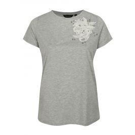 Šedé tričko s ozdobnými detaily Dorothy Perkins Curve